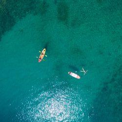 Kayaking around islands
