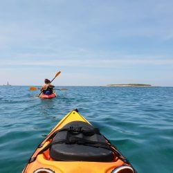 Kayaking around islands